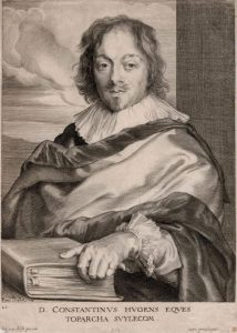 Anthony van Dyck Engraving, Constantin Huygens, c. 1675