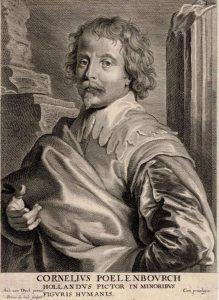 Anthony van Dyck Engraving, Cornelius Poelenbourch (Corneille Van Poelenburg), c. 1660 - 1670