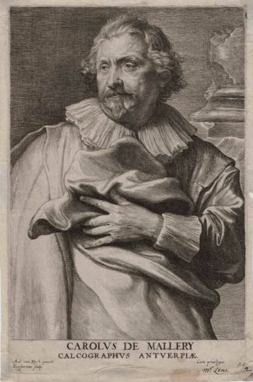 Anthony van Dyck Engraving, Carolus de Mallery (Charles de Mallery), c. 1670 (Do Not Put Live)