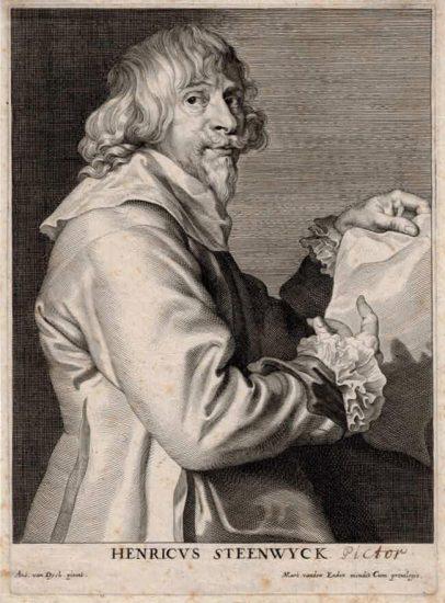 Anthony van Dyck Engraving, Henricus Steenwyck (Henri Van Steenwyck), c. 1641