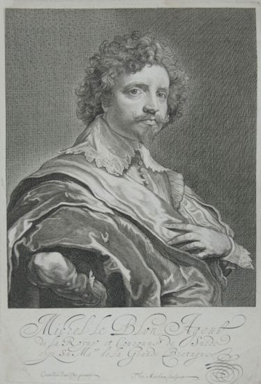 Anthony van Dyck Engraving, Michel Le Blon, c. 1645