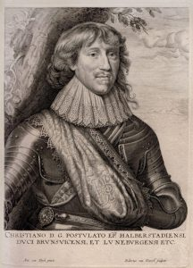 Anthony van Dyck Engraving, Christian, Duke of Brunswick and Lüneburg, c. 1645