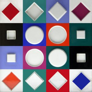 Victor Vasarely Porcelain, Composition Carrée Relief, 1970