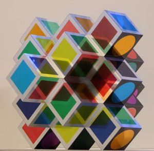 Victor Vasarely Sculpture, Kroa A, 1970