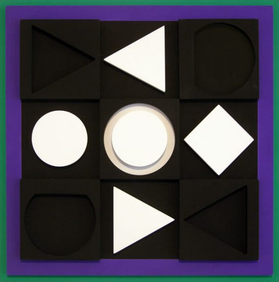 Victor Vasarely Artwork, Caribe Negativ, 1967
