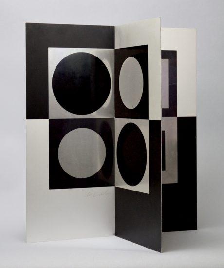 Victor Vasarely Sculpture, Image-miroir (Mirror Image), 1965