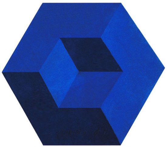 Victor Vasarely Artwork, Untitled, 1983