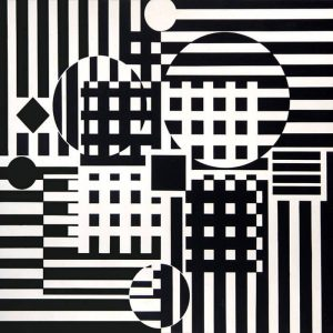 Victor Vasarely Gouache, Encelade, c. 1960