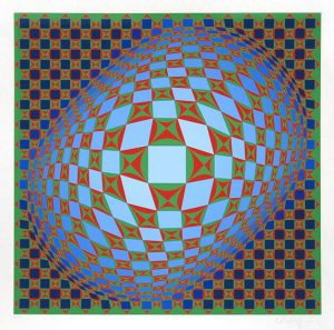 Victor Vasarely Serigraph, Untitled, 1978