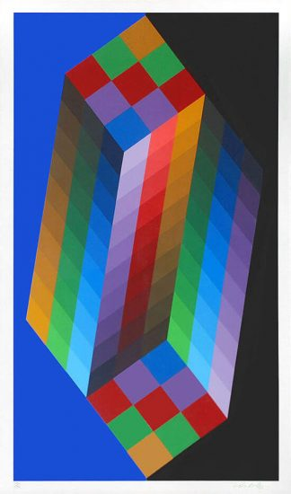 Victor Vasarely Serigraph, Untitled III