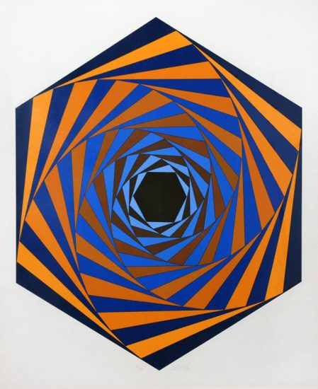 Victor Vasarely Lithograph, Los Angeles (L.A.), c. 1980
