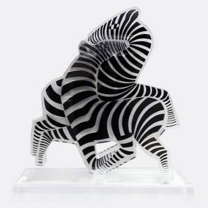 Victor Vasarely Sculpture, Zebras, 1965