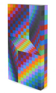 Victor Vasarely Sculpture, Untitled Sculpture, 1987