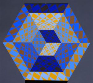 Victor Vasarely Lithograph, Untitled