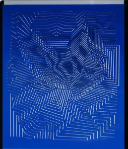 Victor Vasarely Sculpture, Linienspiel (Line Game)