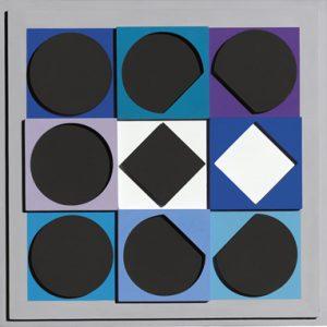 Victor Vasarely Multiple, Topaze Noire – Positif, 1967