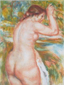 Jacques Villon Aquatint, Nu (Nude), after Pierre-Auguste Renoir