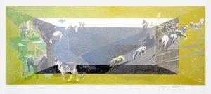 Jacques Villon Lithograph, Les bucoliques (The Countryside)