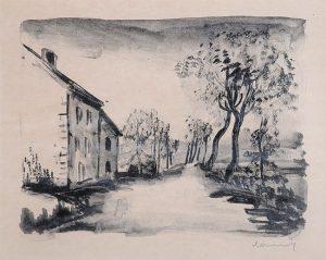 Maurice de Vlaminck Lithograph, Nelle-la-Vallée, le Chemin aux Bords du Sausseron