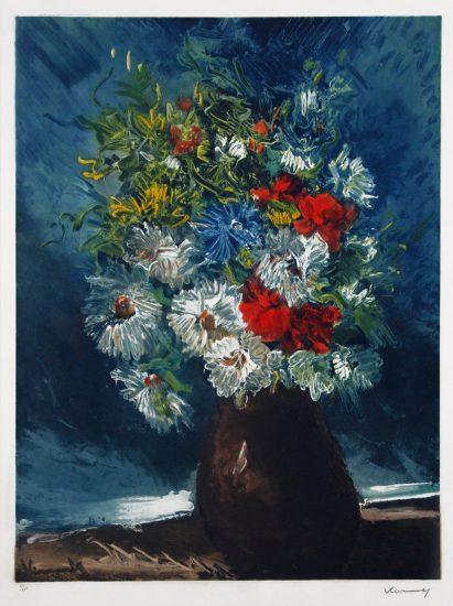 Maurice de Vlaminck Aquatint, Vase de Fleurs, 1958