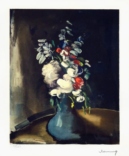 Maurice de Vlaminck Artwork, Bouquet de fleurs (Bouquet of Flowers),1955