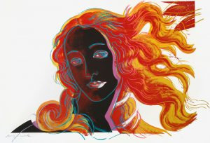 Andy Warhol Screen Print, Warhol Birth of Venus from Details of Renaissance Paintings, 1984