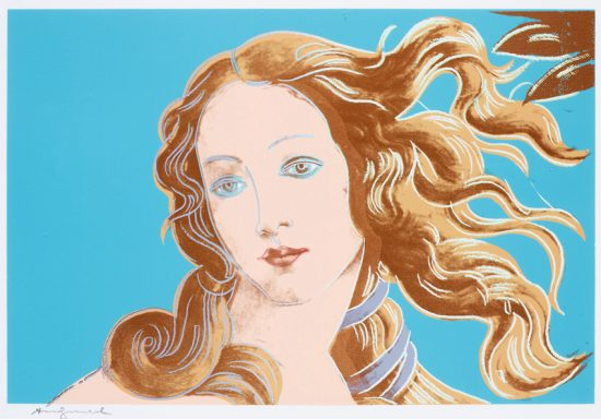 Andy Warhol Screen Print, Venus from Details of Renaissance Paintings, 1984