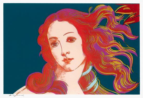 Andy Warhol Screen Print, Birth of Venus, 1984