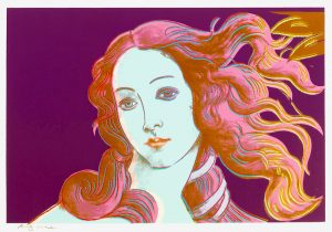 "Andy Warhol Screen Print, ""Warhol Venus"" Birth of Venus from Details of Renaissance Paintings, 1984"