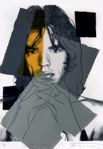 Andy Warhol Screen Print, Mick Jagger, 1975