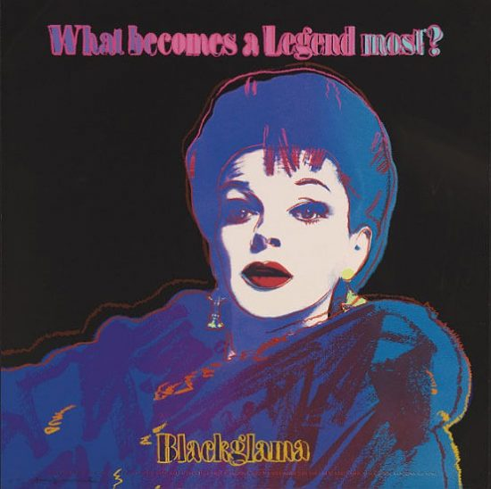 Andy Warhol Screen Print, Blackglama (Judy Garland) from Ads Series, 1985