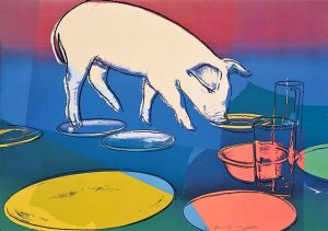 Andy Warhol Screen Print, Fiesta Pig, 1979