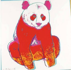 Andy Warhol Screen Print, Giant Panda from Endangered Species Series, 1983