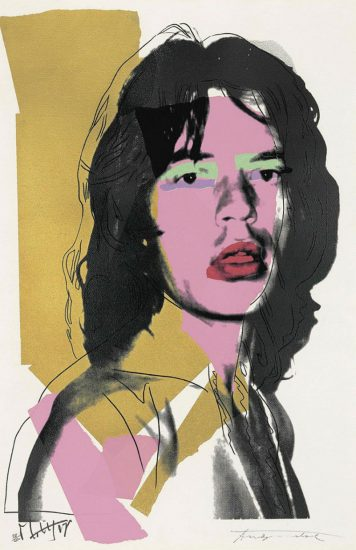 Andy Warhol Screen Print, Screenprint, Mick Jagger, 1975