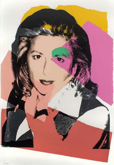 Andy Warhol Screen Print, Marcia Weisman screenprint, 1975