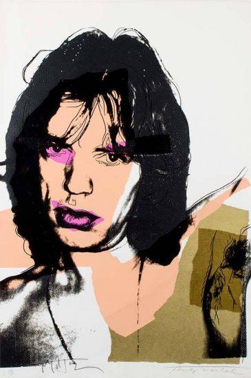 Andy Warhol Screen Print, Warhol and Jagger, Mick Jagger, 1975