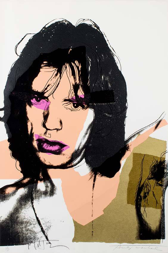 Andy Warhol screen print, Mick Jagger, 1975 (image 1)