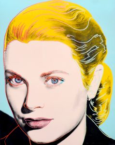 Andy Warhol Screen Print, Grace Kelly, 1984