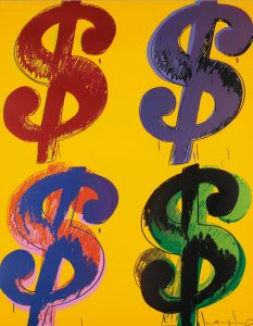 Andy Warhol Screen Print, Dollar Sign $, 1982