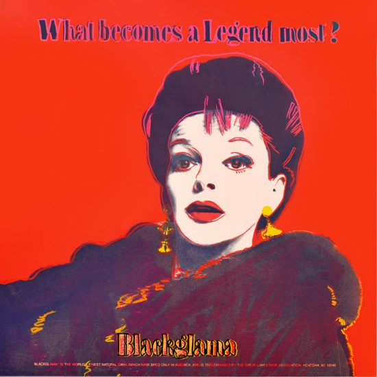Andy Warhol Screen Print, Judy Garland Blackglama from the Ads Series, 1985