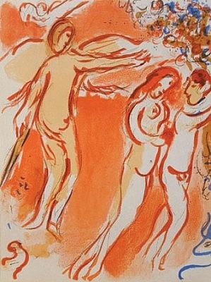Chagall Angel adam eve