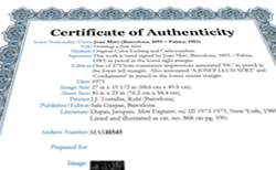 buying from masterworks fine art includes a certificate of authenticity