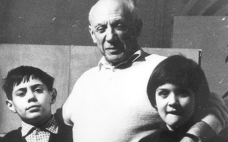 Picasso with Claude and Paloma