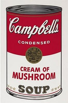 andy warhol cream of mushroom soup (F&S.II.53) screenprint