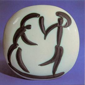 Pablo Picasso Ceramic Plaque Dancers, 1956