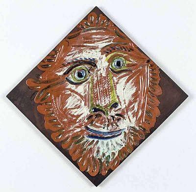 Pablo Picasso Ceramic Plaques Lion's Head 1968-1969