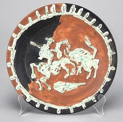 Pablo Picasso Ceramic Plates Picador et taureau (Picador and Bull), 1959