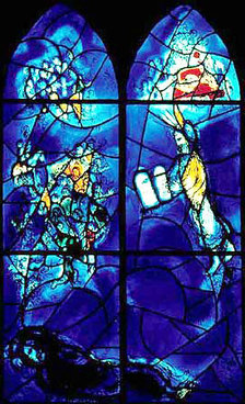 Marc Chagall's stained glass windows in St. Stephan's in Germany
