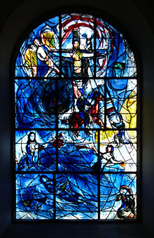 Marc Chagall's stained glass windows in All Saint's Church in Tudeley