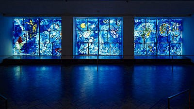 Marc Chagall's stained glass windows in America Windows at the Art Institute Chicago